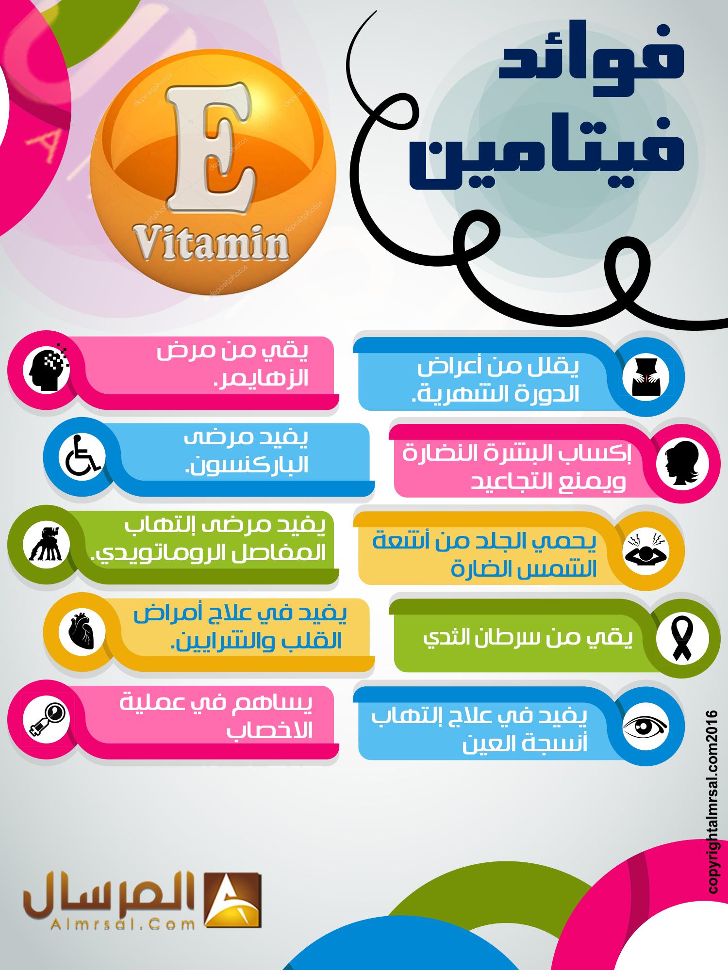 اين يوجد فيتامين e اي E وماهي فوائد هذا الفيتامين - المرسال
