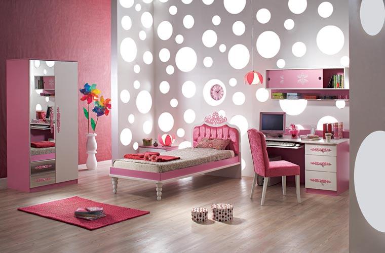 افكار ديكور جدران غرف النوم للبنات المرسال