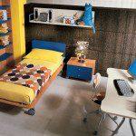 غرفة للشباب ازرق و اصفر