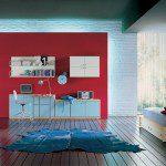 غرفة للشباب لون احمر