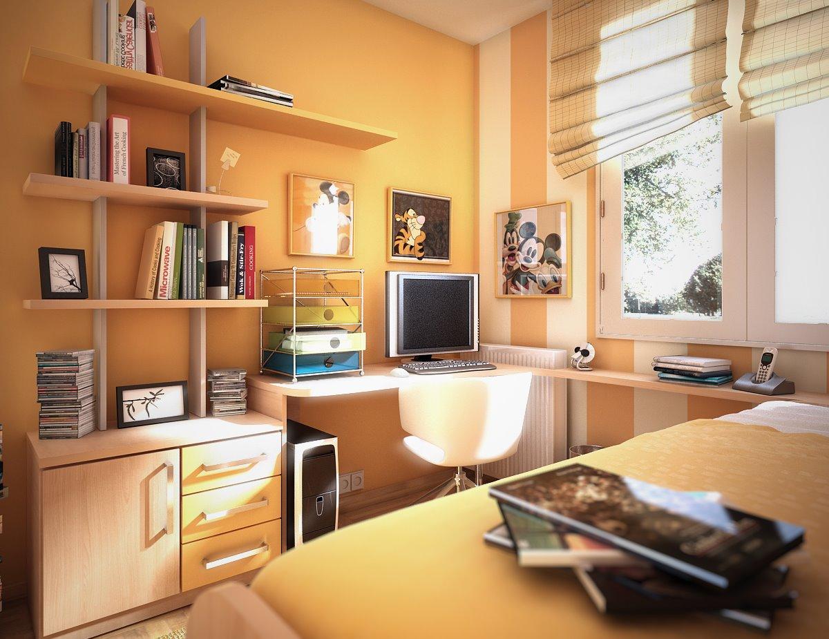 غرفة نوم صغيره للشباب