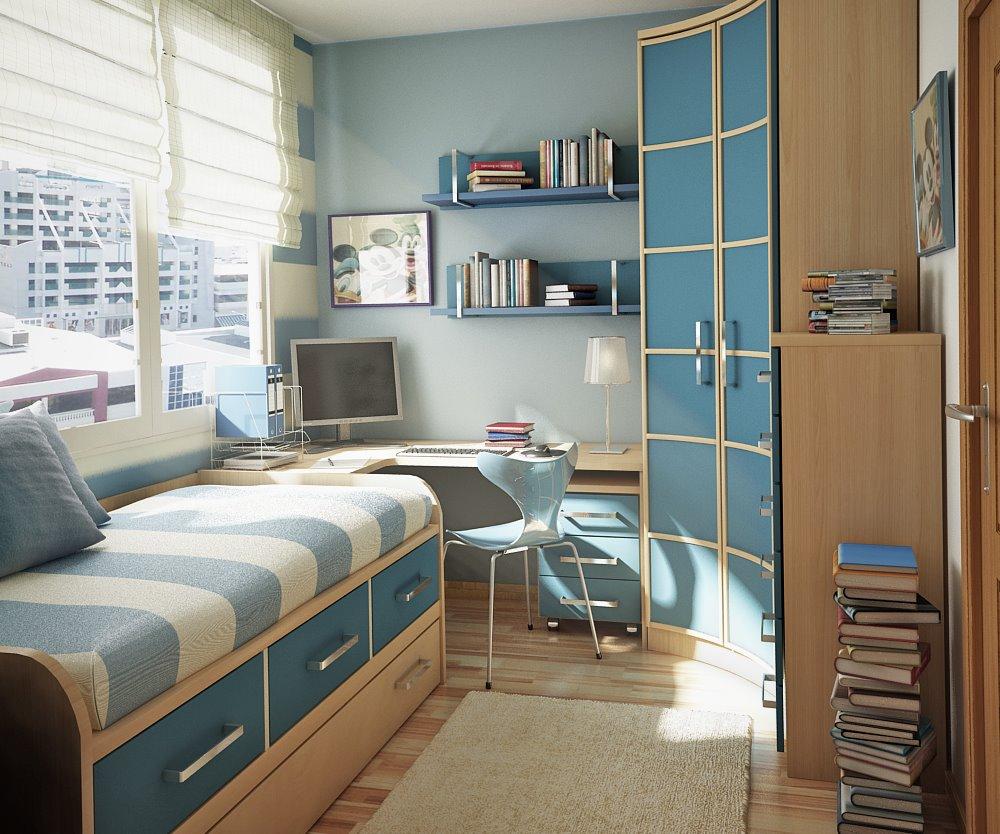 غرفة نوم شباب صغيرة