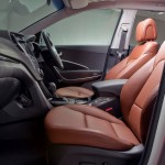 المقاعد الامامية سنتافي 2013 جلد برتقالي