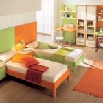 غرفة خاصة للاطفال اخضر و اورانج