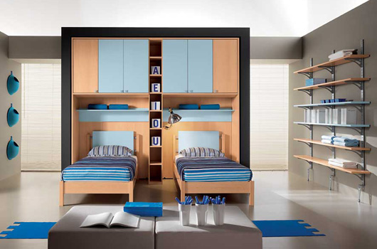 for Blue childrens bedroom ideas