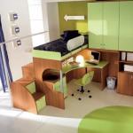 غرفة اطفال لون عشبي