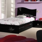 غرف نوم بنات فخمة جدا باللون الأسود والموف