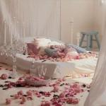 فكرة رومانسية لغرفة النوم