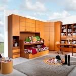 غرفة نوم اطفال برتقالية اللون