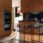 مطبخ اللون خشبي بني