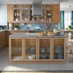 فكرة تصميم طاولة وسط المطبخ