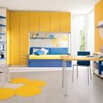 تصميم غرفة رايقة بلونين اصفر و ازرق