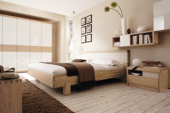 لون بيج و ابيض لغرف النوم | المرسال