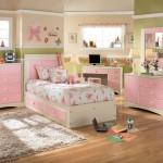 تصميم وردي لغرفة بنات