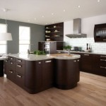 فكرة مطبخ مودرن مع تصميم الجزيرة