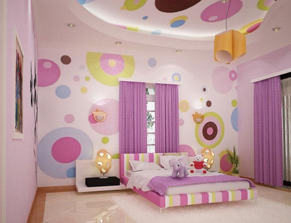 غرف نوم للبنات مودرن