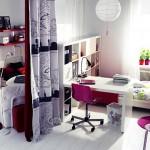 غرفة نوم سرير و مكتب