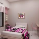 تصميم غرفه ناعمه سرير واحد لون حليبي - 2799