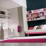 غرف بنات اللون كحلي و موف و ابيض - 2802