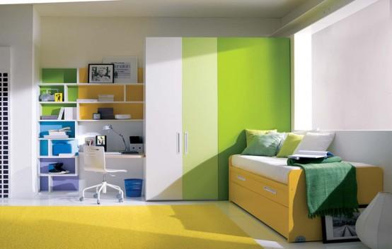 اللوان زاهية للغرف و صارخه