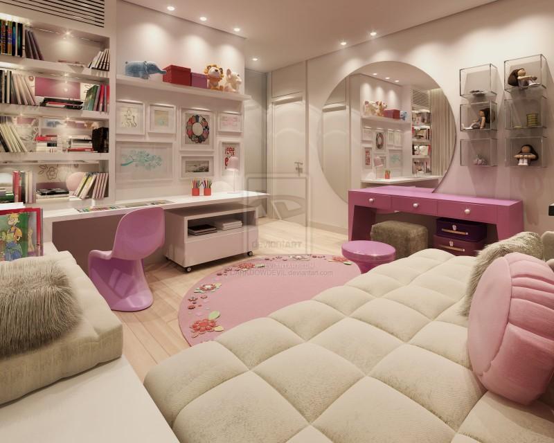تصميم احترافي لغرف البنات | المرسال
