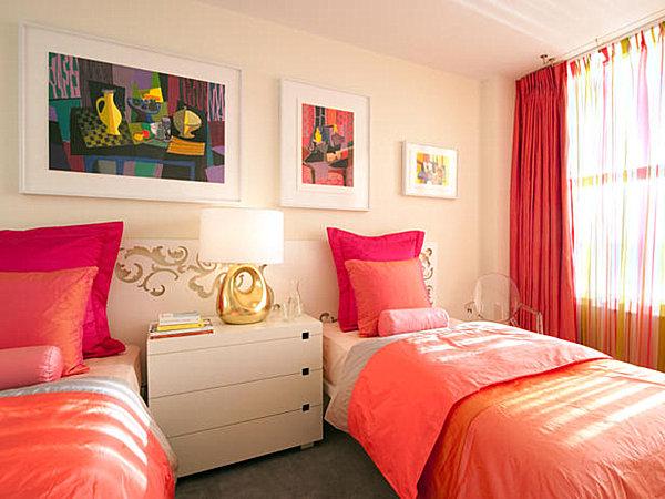 تصميم غرفة بنات بسريرين مفرقه | المرسال