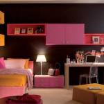 غرفة نوم للبنات باللون الاسود و الوردي و الاصفر - 2794