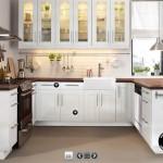 صورة مطبخ اللون ابيض