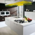 صورة تصميم مطبخ ابيض و اسود