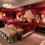 غرف نوم رومانسية حمراء