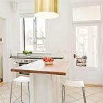 مطبخ ابيض اللون ناعم - 3221