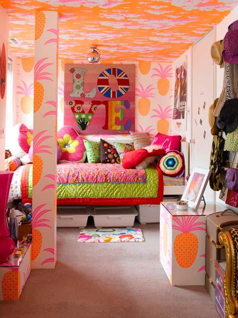 غرفة ملونة و ديكورات حلوه و زاهية للبنات | المرسال