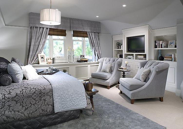 ديكورات و تصميم غرف نوم مع كراسي و مكتبة تلفزيون | المرسال
