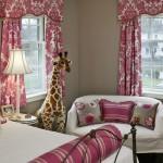 غرفة بنات لون ابيض و فرش وردي - 5107