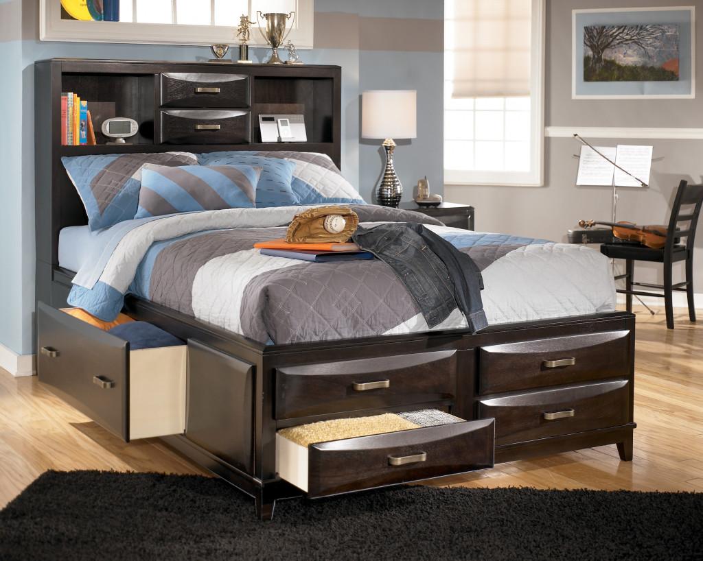 تصاميم جديدة لغرف نوم الشبابية السرير عالي مرتفع | المرسال