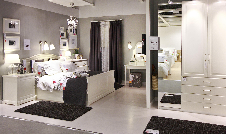 White Curtains black and white curtains ikea : غرف نوم كاملة من ايكيا الدولاب و ...