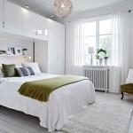 غرفة نوم فخمة بيضاء