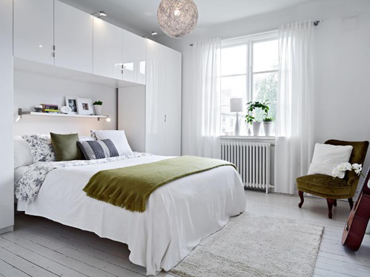 - Black and white interior design bedroom ...