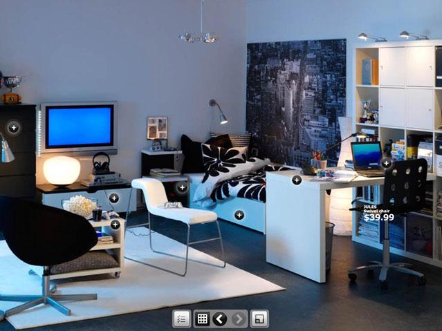 طقم غرفة نوم من ايكيا مع طاولة كمبيوتر و طاولة تلفزيون | المرسال