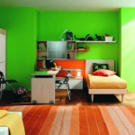 غرف نوم أولاد لونها اخضر تفاحي - 5125