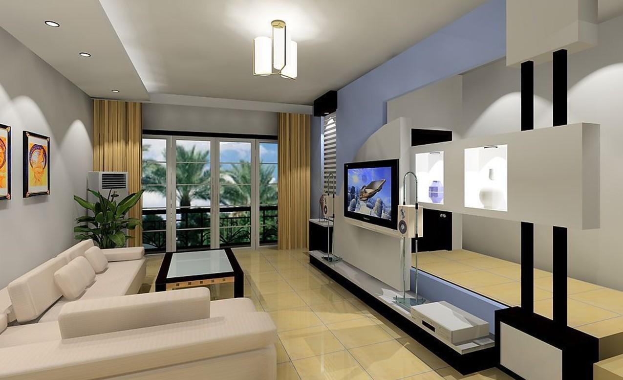 Living Room Creative Tv Wall Design Modern المرسال