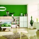 غرف نوم اولاد مودرن لون اخضر - 5129