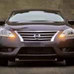 صورة من الامام لتوضيح شبك و انوار و مصابيح ليد LED لسيارة صني 2013