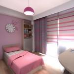 تصميم غرف نوم بنات وردية اللون - 5112