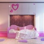 احدث تصميم جديد لغرف البنات الوردية - 5116