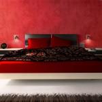 تصاميم غرف نوم فاخرة باللون الاحمر - 5009