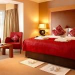 غرفة نوم احمر و بيج - 5013