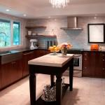 مطبخ مفتوح لونه بني - 5592