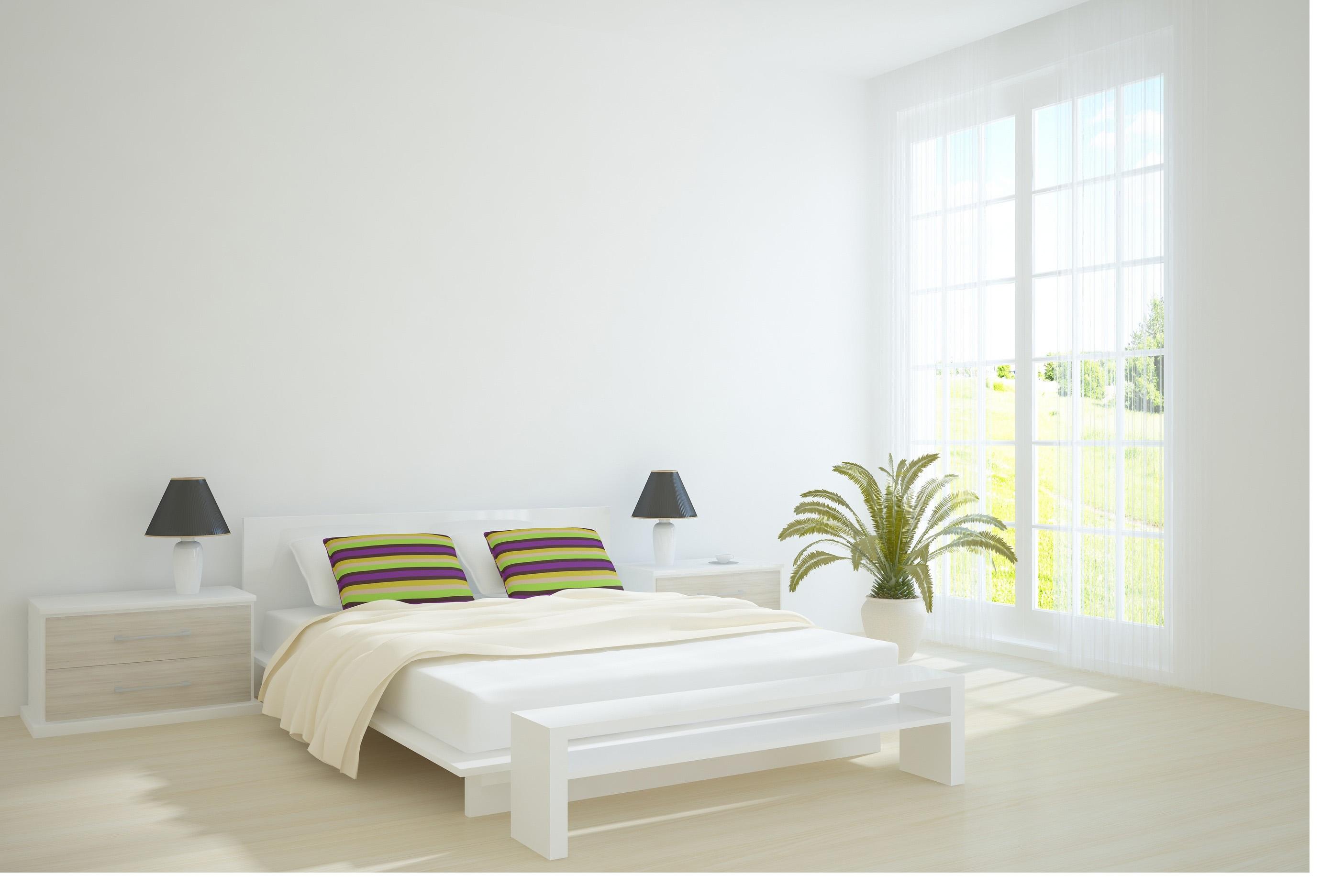 غرف نوم عرسان مودرن بيضاء اللون | المرسال