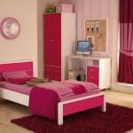 غرف نوم بنات باللون الورد والبيج - 5108